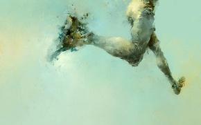 Picture feet, figure, running