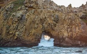 Picture sea, rock, stones, shore