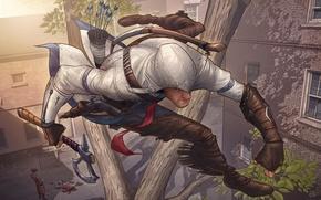 Picture figure, art, Assassins Creed 3, Connor, PatrickBrown, fan art contest