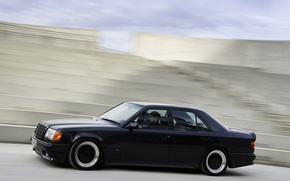 Picture speed, black color, Mercedes-bens
