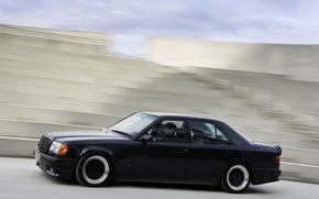 Wallpaper speed, black color, Mercedes-bens