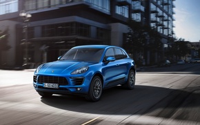 Picture road, jeep, Porsche, Porshe, megapolis, SUV, SUV, 2014, Macan, Macan S, Makan