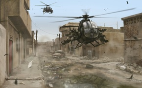Picture War, helicopter, fighters