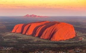 Picture light, rock, mountain, Australia, the view from the top