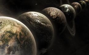 Picture space, planet, space prostranstvo