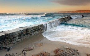 Wallpaper sea, wave, the sky, water, nature, the ocean, landscapes, wave, dam, fences, dam, they say