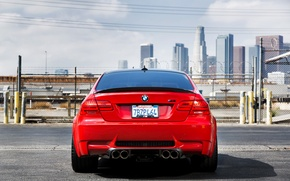 Picture BMW, BMW, back, red, red, e92