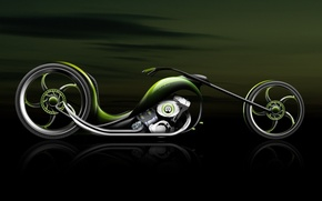 Wallpaper green, the concept, Motorcycle