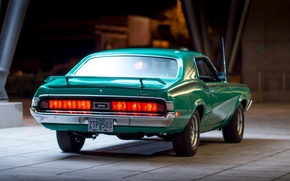Picture the evening, rear view, Cougar, 1970, Eliminator, Mercury