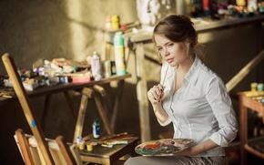 Picture paint, artist, creativity, brush, Ksenia Palenova