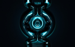 Wallpaper the film, round, neon, the throne, tron