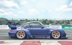 Picture Porsche 911, 993, carrera, 1994, Rough