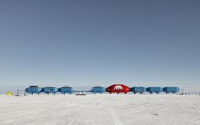 Picture snow, technique, Arctic, HalleyVI, research station, HBA