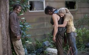 Picture Season 4, The Walking Dead, Norman Reedus, Emily Kinney