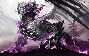 Picture metal, fantasy, magic, dragon, Guild Wars II
