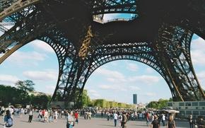 Picture people, Eiffel tower, Paris, France, paris, people, tourists