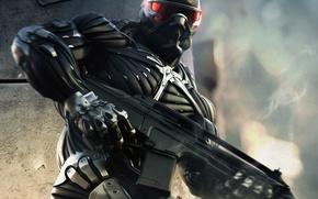 Wallpaper weapons, nano, people, power, Crysis, costume