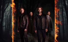 Picture fire, flame, forest, devil, Supernatural, Jensen Ackles, man, limbo, angel, good, bad, brothers, Dean Winchester, ...