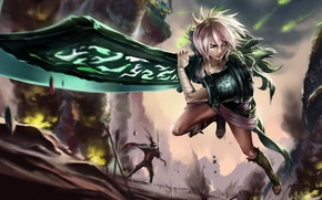 Picture Girl, Game, League of Legends, Riven, Exile