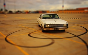 Picture Auto, White, Chrysler, Retro, Machine, Valiant