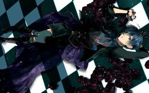 Picture art, guy, Ciel, Dark Butler, Kuroshitsuji, Ciel Phantomhive