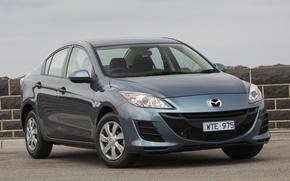 Picture car, blue, Mazda, sedan, japan, Mazda
