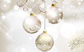 Picture balls, new year, Christmas, decoration