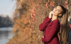 Picture autumn, look, model, hair, beauty, Federica