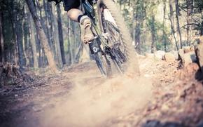 Picture bike, sport, dust