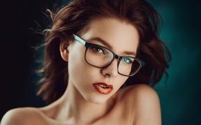 Picture portrait, makeup, glasses, Lusy, George Chernyadev
