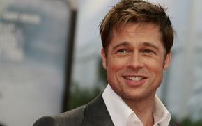 Picture smile, actor, Brad Pitt, Brad Pitt, closeup