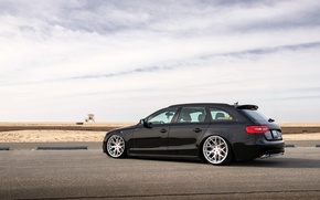 Picture Audi, Audi, black, rearside