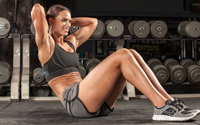 Picture woman, workout, fitness, abs