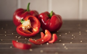 Picture red, pepper, seeds