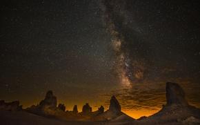 Picture sky, night, rocks, stars