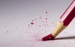 Picture macro, red, pencil, rod, broke