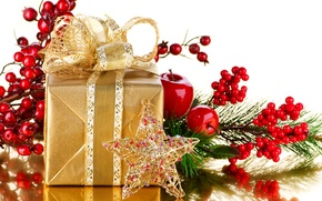 Picture new year, decoration, Christmas, gifts, holiday