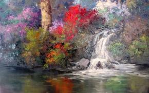 Picture art, Sean Wallis, Tranquil Garden