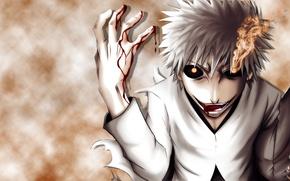 Picture eyes, smoke, shadow, mask, bleach, Ichigo, hichigo