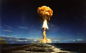 Wallpaper the explosion, mushroom, nuclear