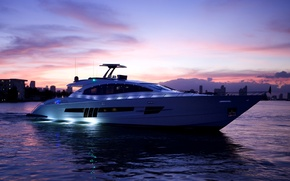Picture sea, the evening, yacht, luxury motor yacht