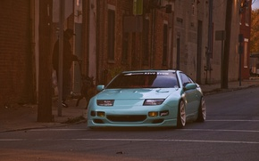 Picture the city, green, street, Nissan, Nissan, front, 300zx, fairlady, russet