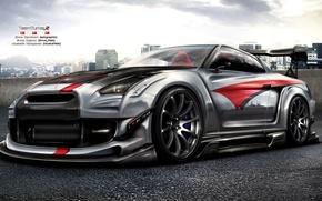Picture figure, Nissan, GT-R, Nissan, R35