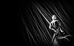 Picture sword, sword, hunter, fanart, Virgil, demon hunter, half-demon, poludemon, Devil may cry 1, DMC 1