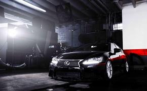 Picture Lexus, wheels, black, vossen, frontside, GS 350