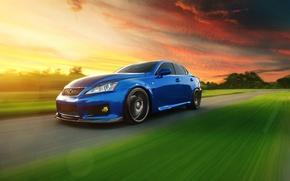 Picture Lexus, Blik, blue, front, speed, IS F