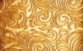 Picture pattern, texture, twigs, Golden color