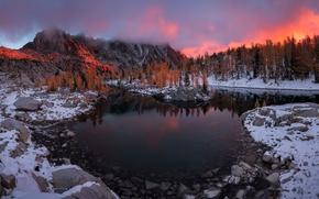 Picture autumn, mountains, lake, Enchanted Leprechaun