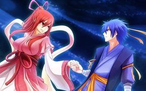 Picture girl, anime, art, guy, Fairy Tail, Fairy tail