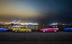 Picture car, night, tuning, honda nsx, s2000